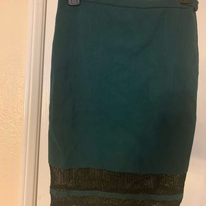 Guess pencil skirt see-thru bottom